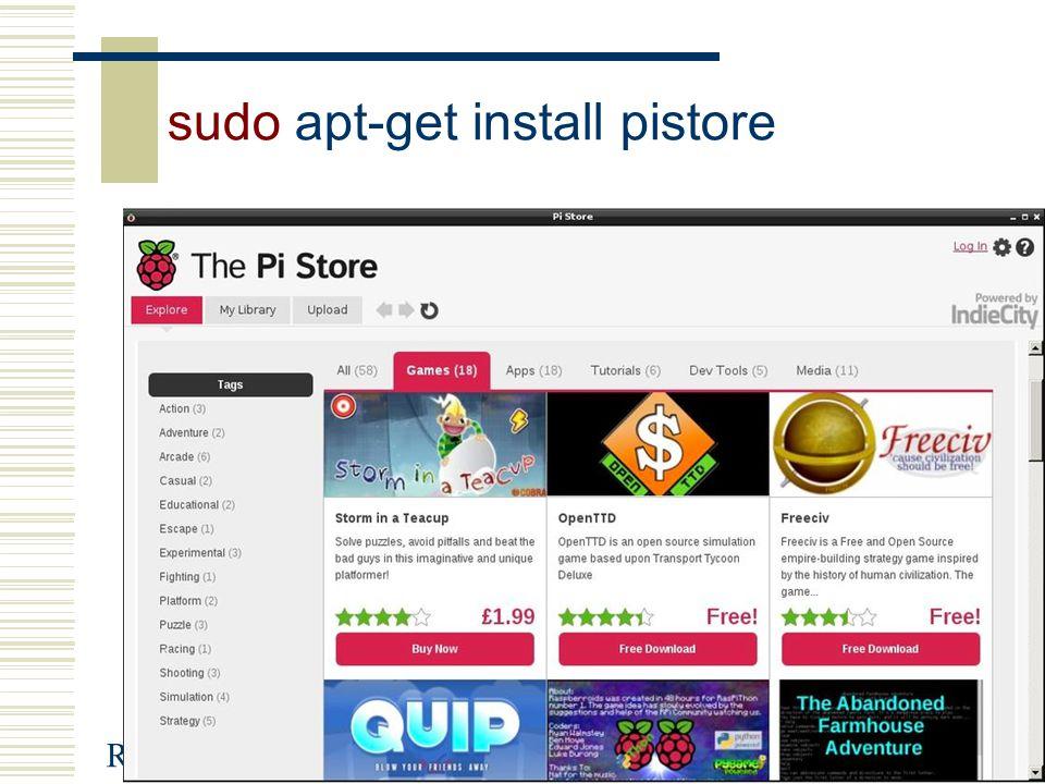 Raspberry-Pi45 sudo apt-get install pistore