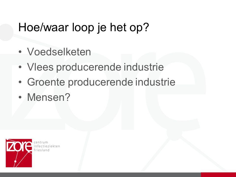 Hoe/waar loop je het op? Voedselketen Vlees producerende industrie Groente producerende industrie Mensen?
