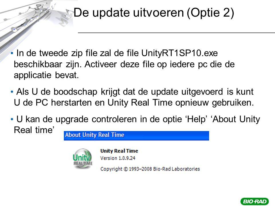 In de tweede zip file zal de file UnityRT1SP10.exe beschikbaar zijn.