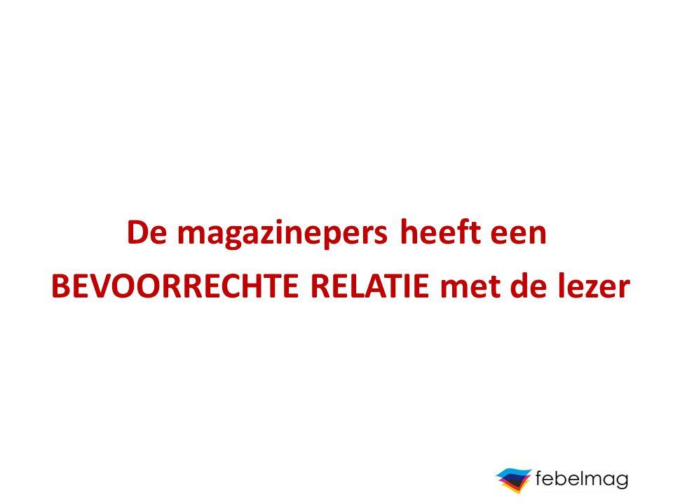 De magazinepers heeft een BEVOORRECHTE RELATIE met de lezer