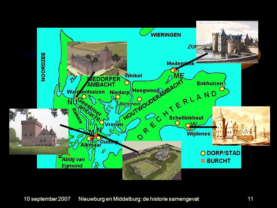 10 september 2007Nieuwburg en Middelburg: de historie samengevat11