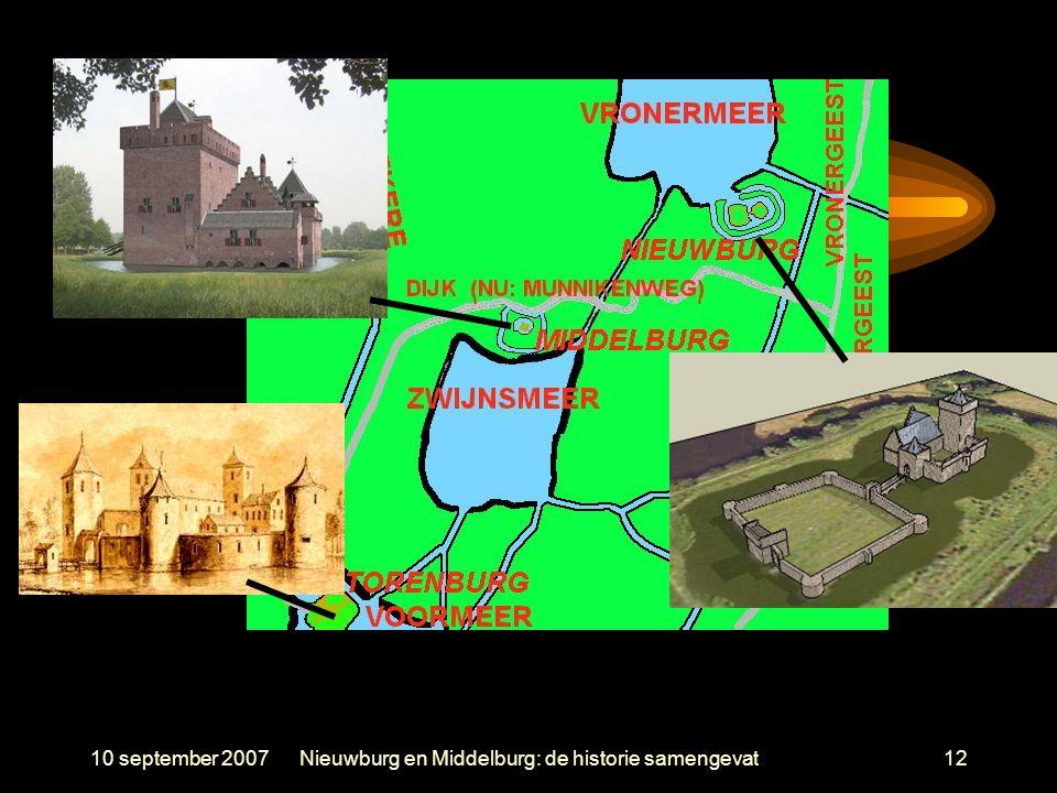10 september 2007Nieuwburg en Middelburg: de historie samengevat12