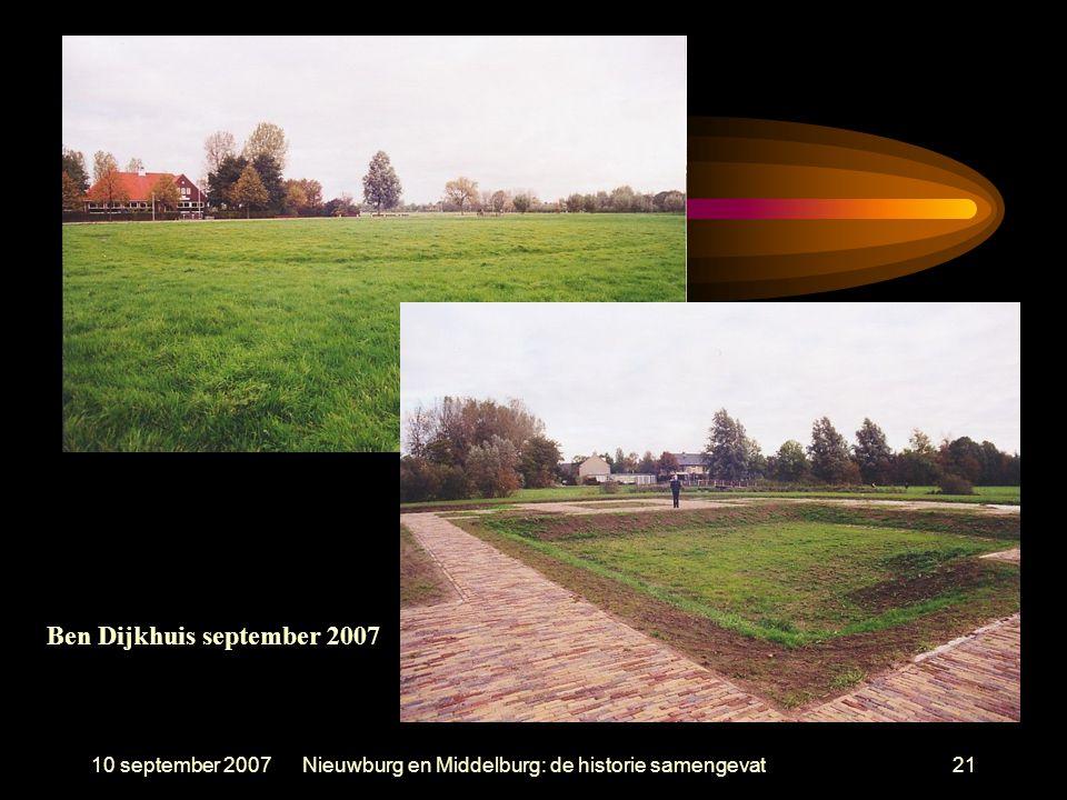 10 september 2007Nieuwburg en Middelburg: de historie samengevat21 Ben Dijkhuis september 2007