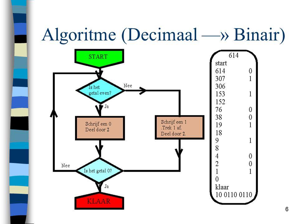 6 Algoritme (Decimaal —» Binair)