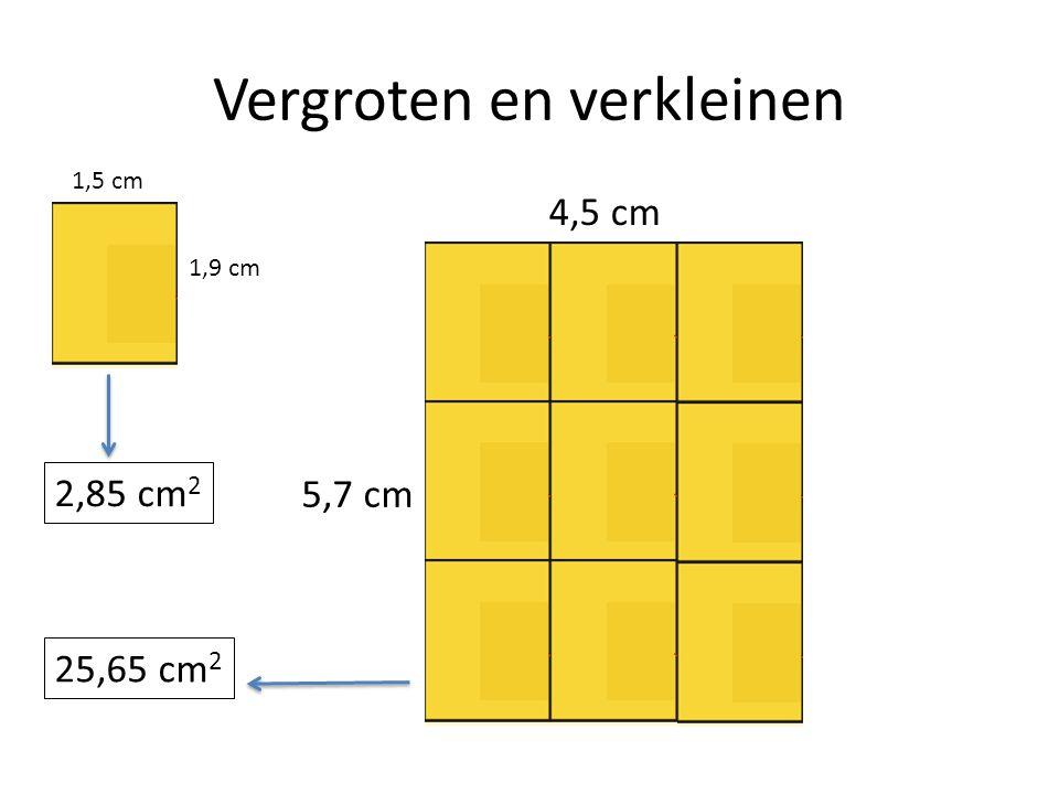 Vergroten en verkleinen 1,5 cm 1,9 cm 4,5 cm 5,7 cm 25,65 cm 2 2,85 cm 2