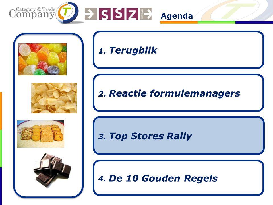 Agenda 2. Reactie formulemanagers 3. Top Stores Rally 4. De 10 Gouden Regels 1. Terugblik