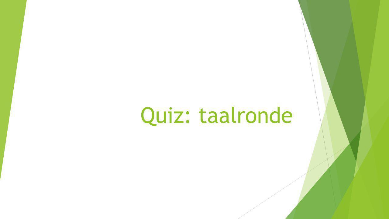 Quiz: taalronde