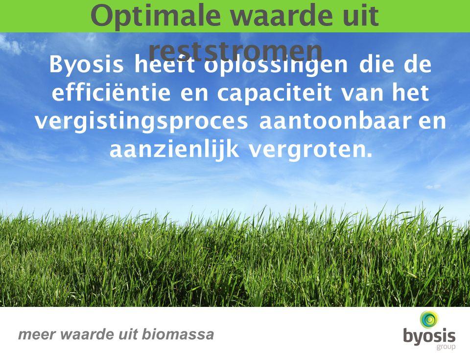 Byosis heeft oplossingen die de efficiëntie en capaciteit van het vergistingsproces aantoonbaar en aanzienlijk vergroten.