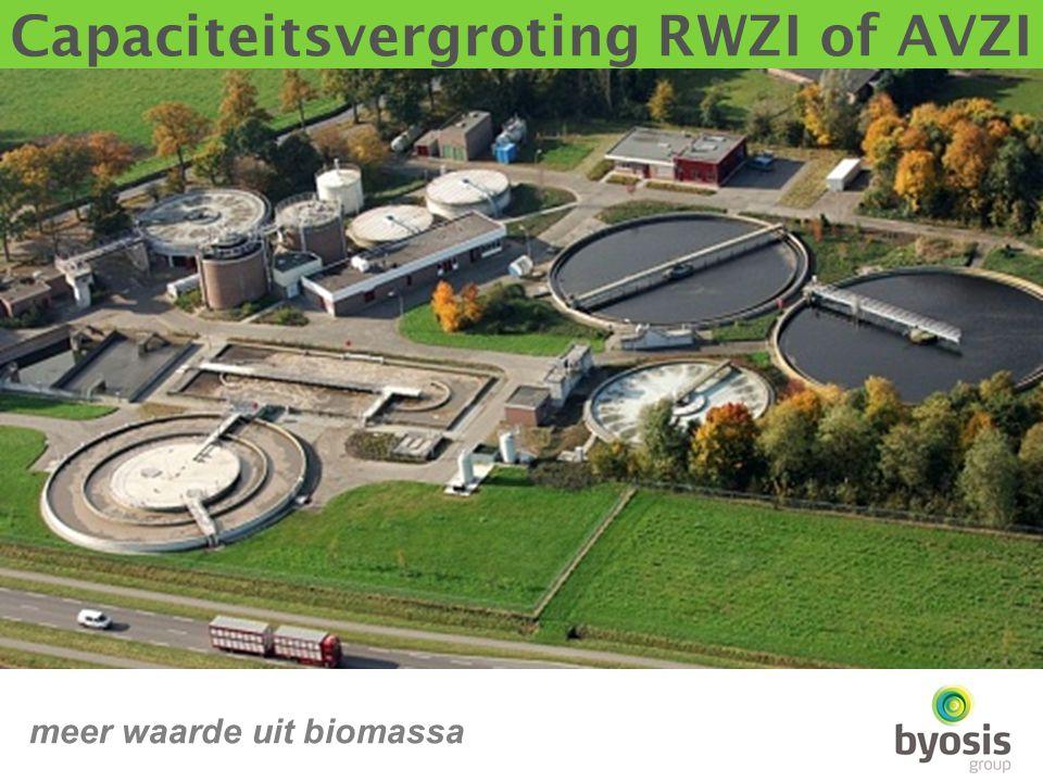 Capaciteitsvergroting RWZI of AVZI meer waarde uit biomassa