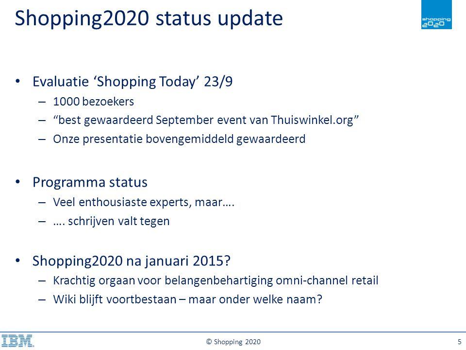 © Shopping 202016 Supply Chain Strategy Merchandise Strategy Meer vanuit Retailer beschrijven: – Welke keuze heeft de retailer vwb SC en Merchandise strategie – Short tail vs.
