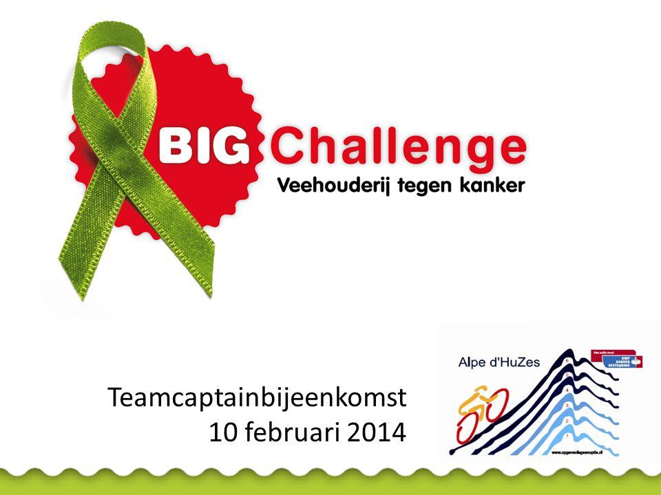 Teamcaptainbijeenkomst 10 februari 2014