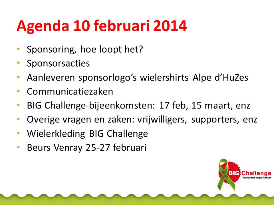 Nieuws 19de team BIG Challenge: Dutch Poultry Centre BIG Challenge 2014: 152 deelnemers!!
