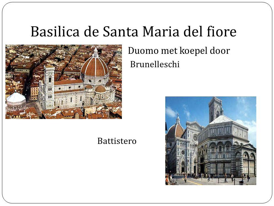 Basilica de Santa Maria del fiore Duomo met koepel door Brunelleschi Battistero