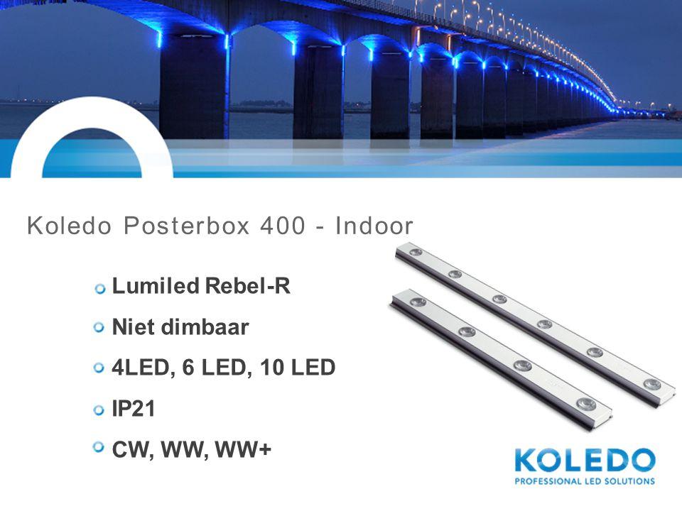 Koledo Posterbox 402S - String Lumiled Rebel-R Dimbaar 1-10V 2 LED, string 6 modules IP66 CW, WW, WW+