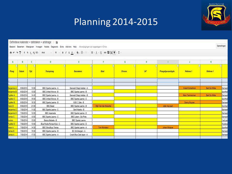 Planning 2014-2015