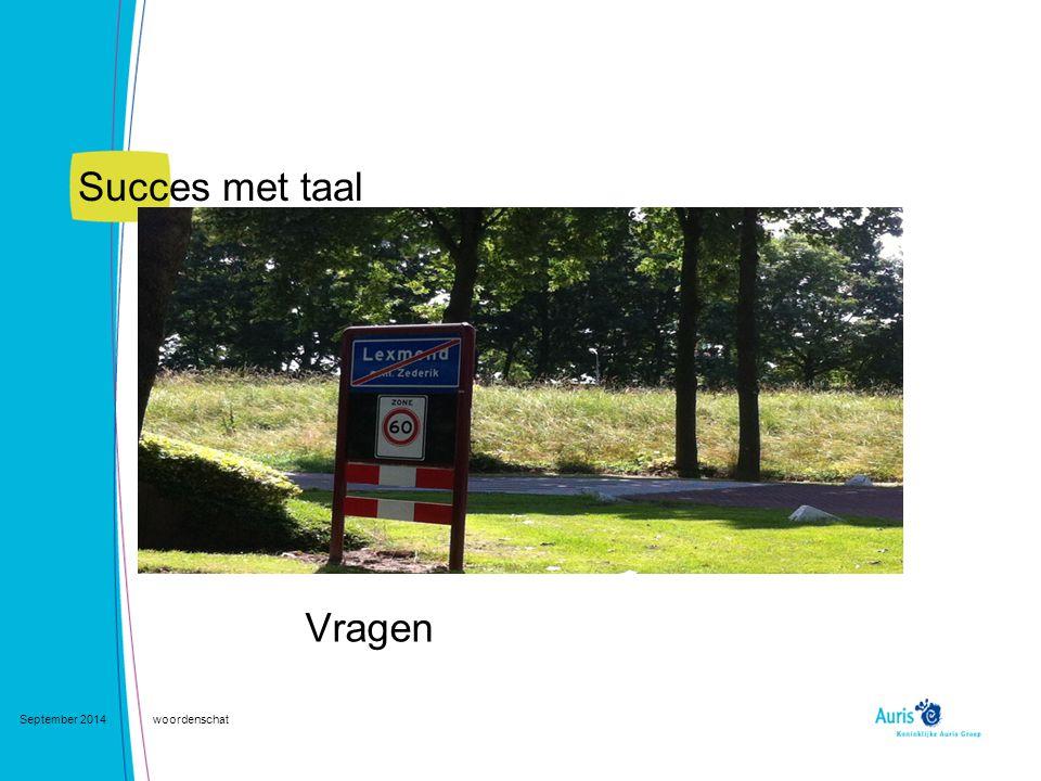 Succes met taal Vragen September 2014woordenschat