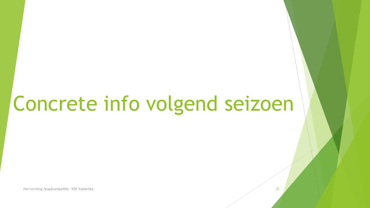Concrete info volgend seizoen Hervorming Jeugdcompetitie - KSK Kasterlee38