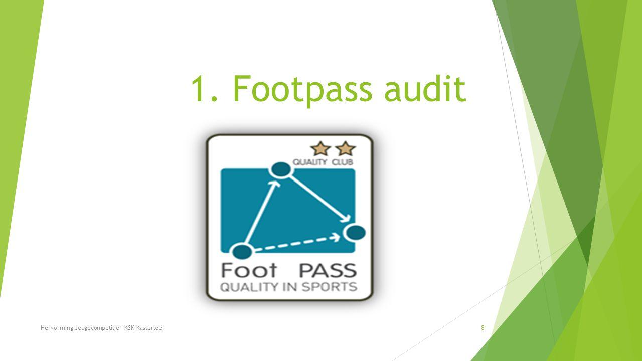 1. Footpass audit Hervorming Jeugdcompetitie - KSK Kasterlee 9 KSK Kasterlee