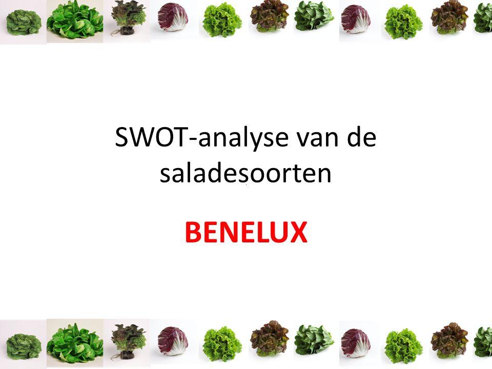SWOT-analyse van de saladesoorten BENELUX