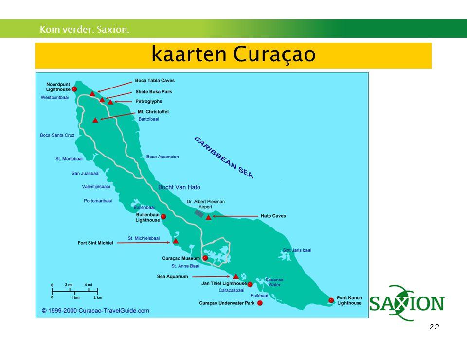 Kom verder. Saxion. 22 kaarten Curaçao