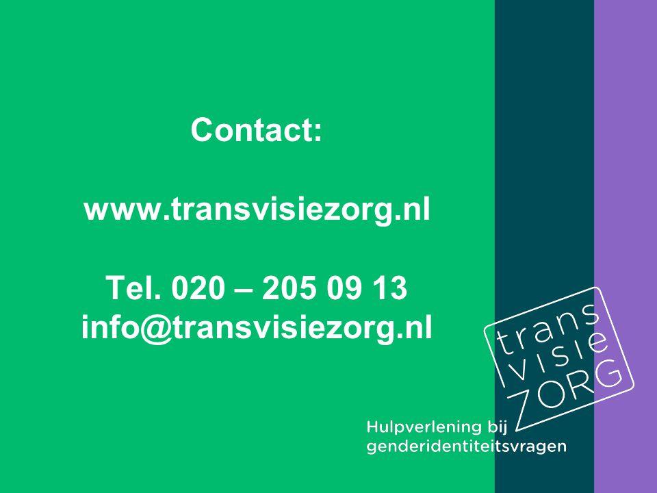 Contact: www.transvisiezorg.nl Tel. 020 – 205 09 13 info@transvisiezorg.nl