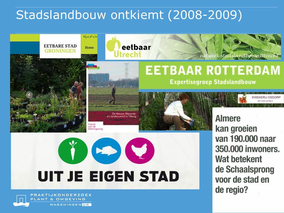 Stadslandbouw ontkiemt (2008-2009)