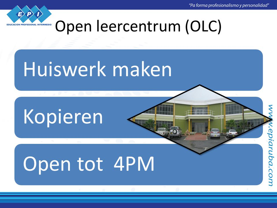 Open leercentrum (OLC) Huiswerk makenKopierenOpen tot 4PM