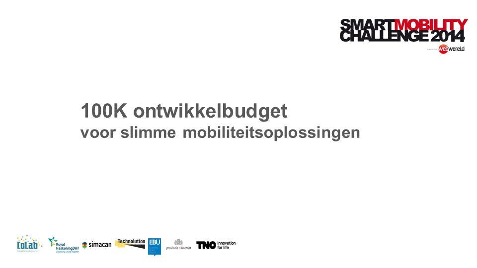 100K ontwikkelbudget voor slimme mobiliteitsoplossingen