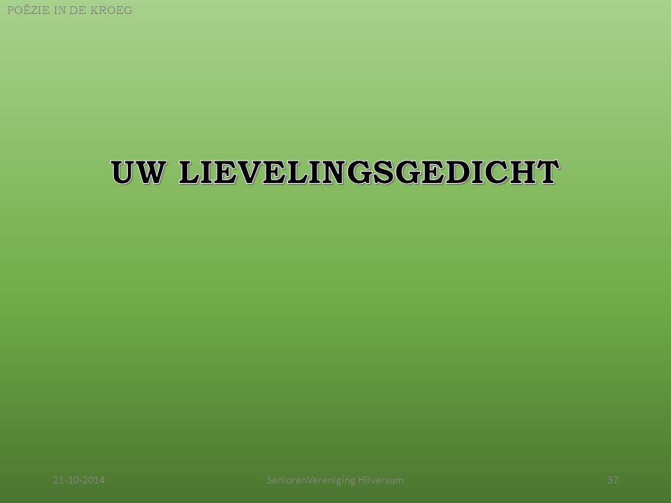 21-10-2014SeniorenVereniging Hilversum37 POËZIE IN DE KROEG
