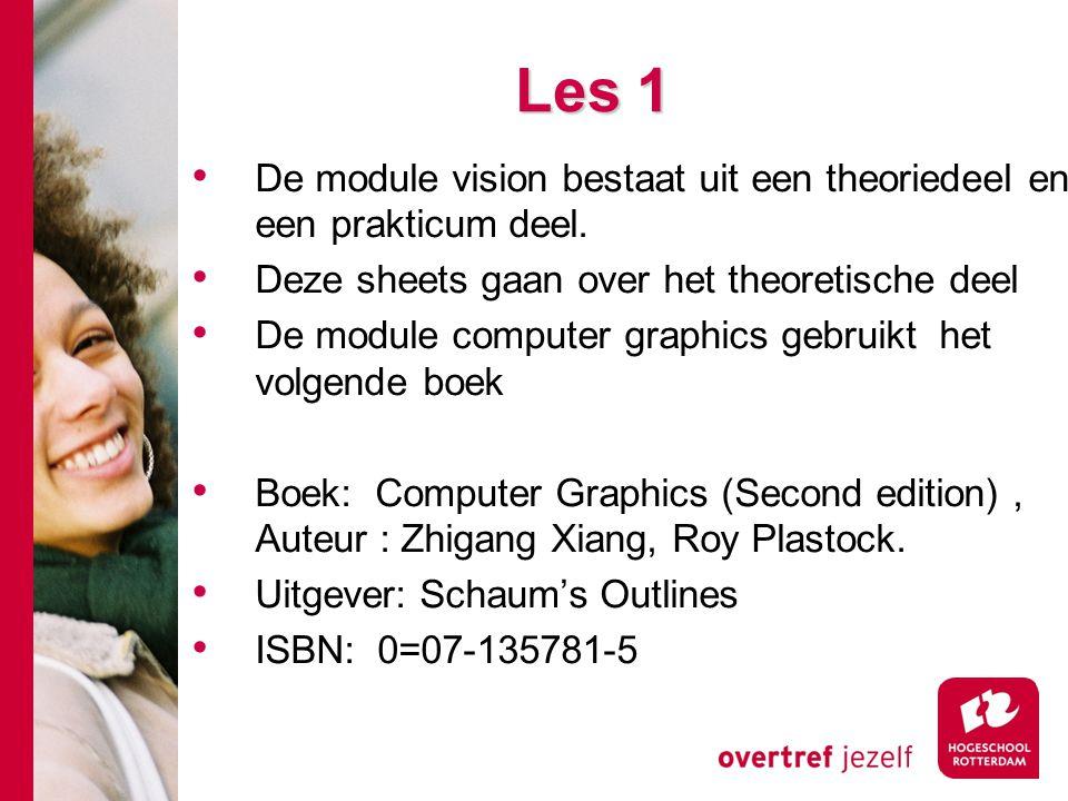 Kleuren attributen Plaatsinformatie schrijven: setPixel(x,y) Plaatsinformatie lezen (direct): getPixel(x,y,rgb) Plaatsinformatie lezen (Lookup): getPixel(x,y,i) Lookup-table schrijven : setEntry(i,rgb) Lookup-table lezen: getEntry(i,rgb) Achtergrond beeld schrijven: clear()