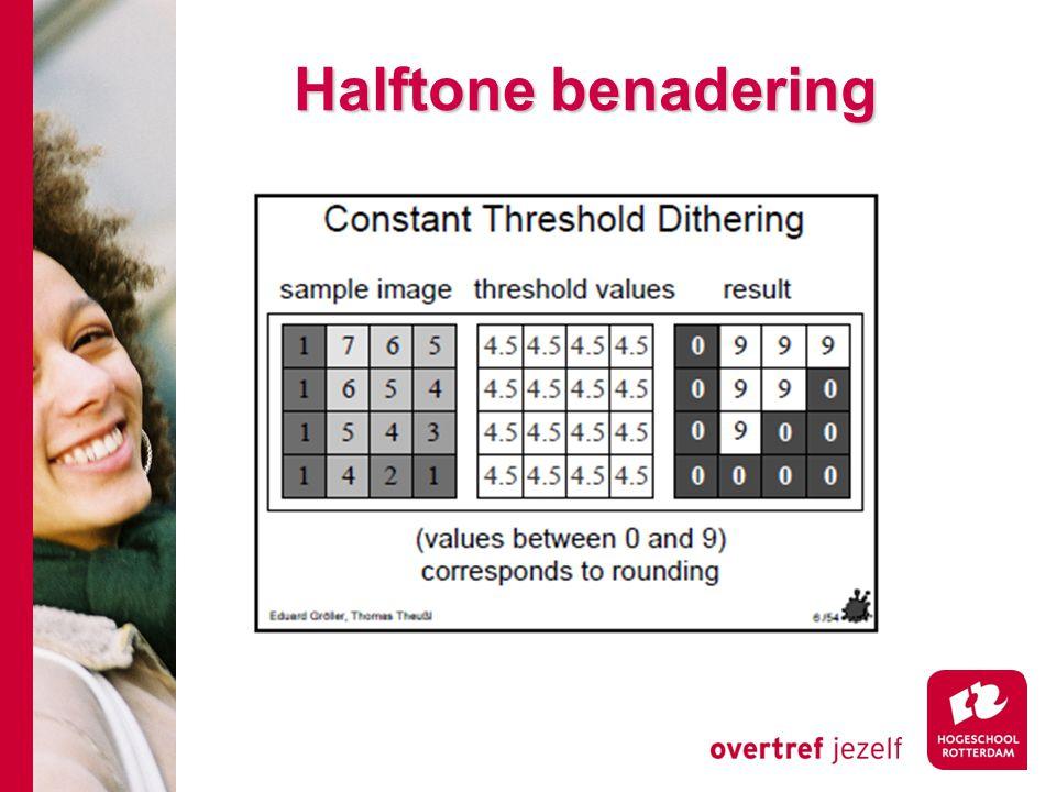 Halftone benadering
