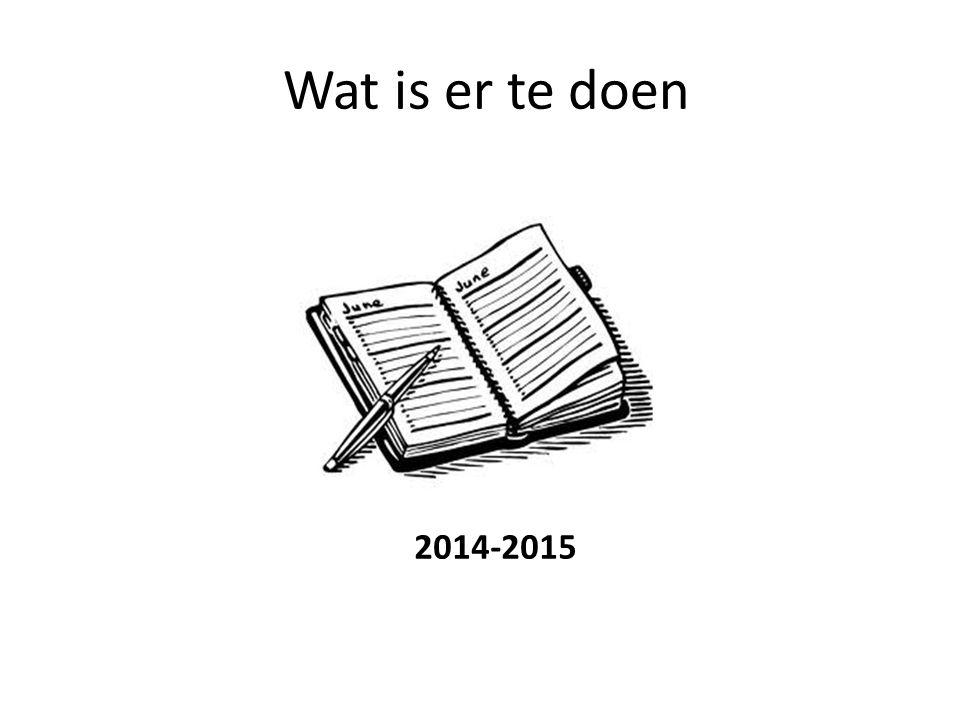 Wat is er te doen 2014-2015