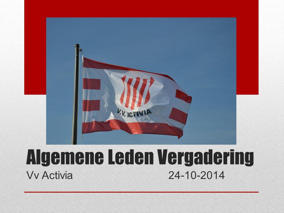 Algemene Leden Vergadering Vv Activia24-10-2014