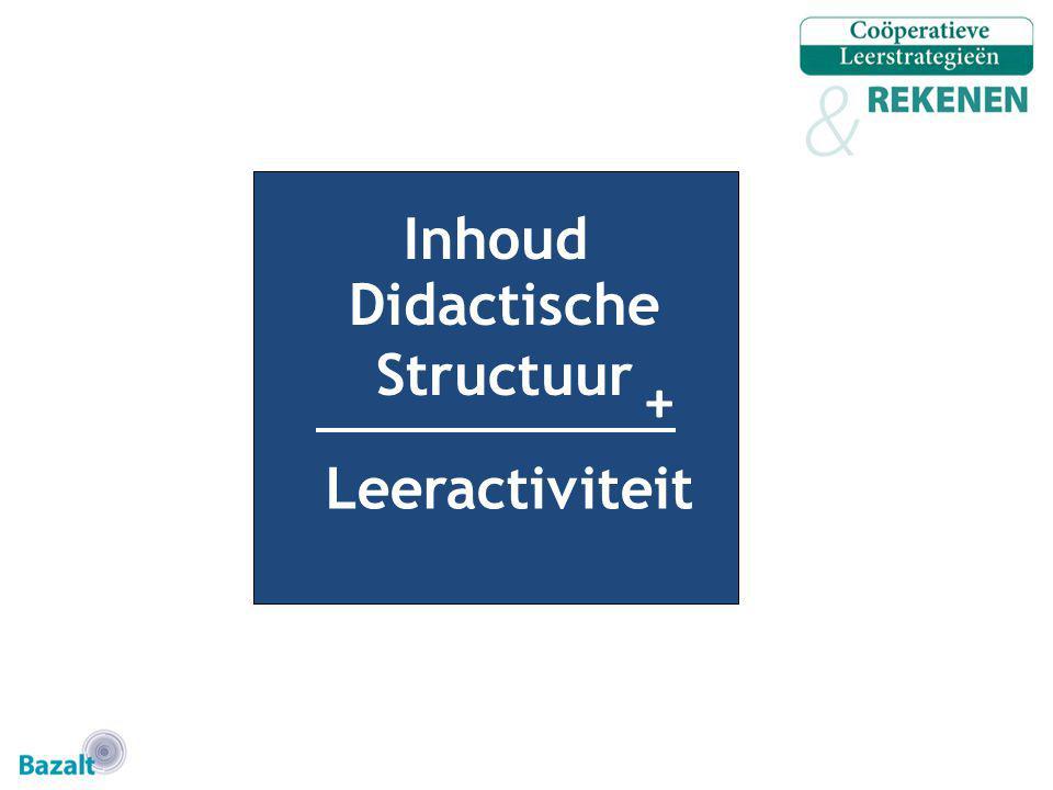 Inhoud + Didactische Structuur Leeractiviteit