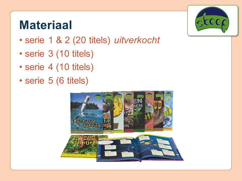 Materiaal serie 1 & 2 (20 titels) uitverkocht serie 3 (10 titels) serie 4 (10 titels) serie 5 (6 titels)