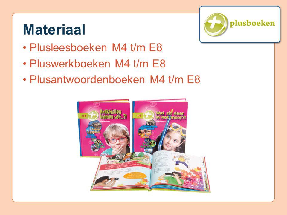Materiaal Plusleesboeken M4 t/m E8 Pluswerkboeken M4 t/m E8 Plusantwoordenboeken M4 t/m E8