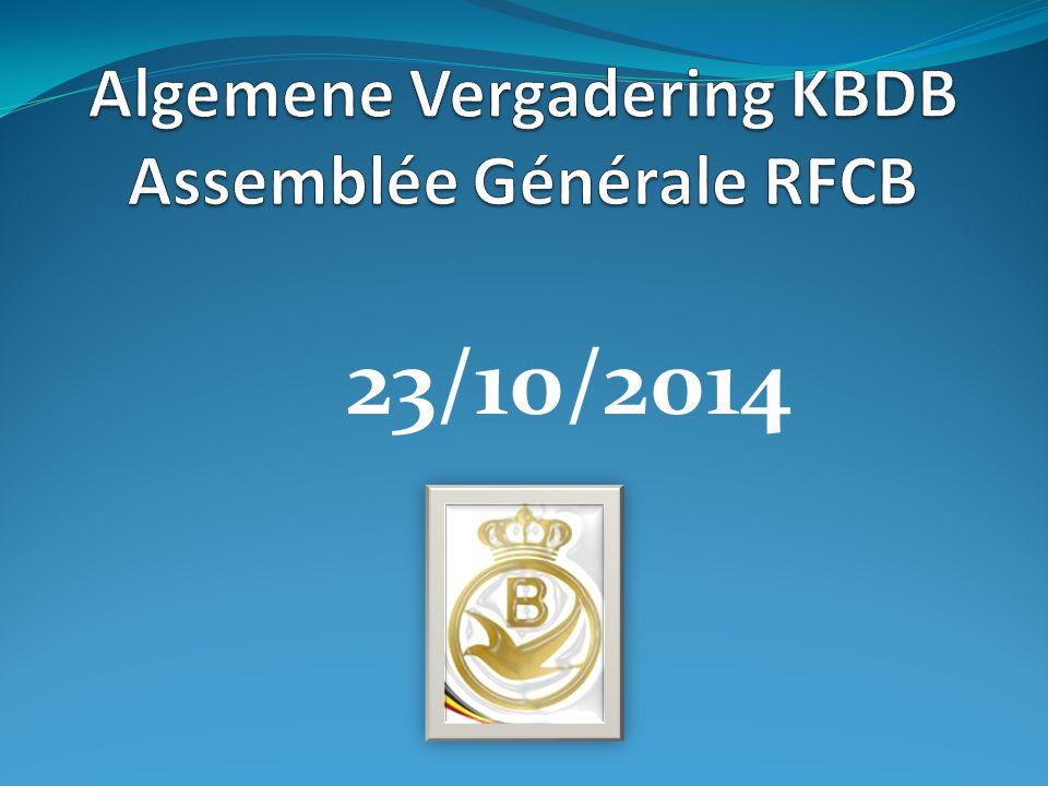 Algemene Vergadering KBDB Assemblée Générale RFCB 11.