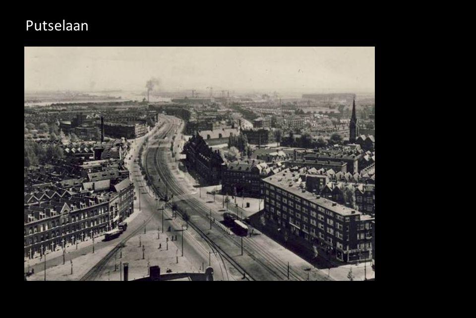 Putselaan, linksboven de Hillevliet 1928