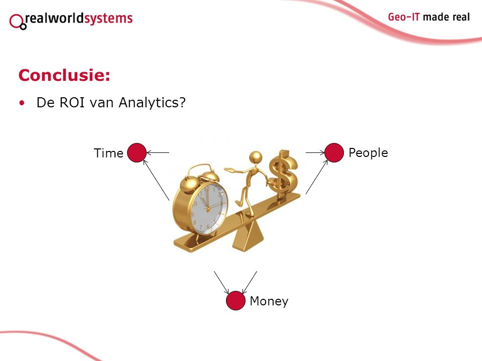 Conclusie: De ROI van Analytics? Time People Money