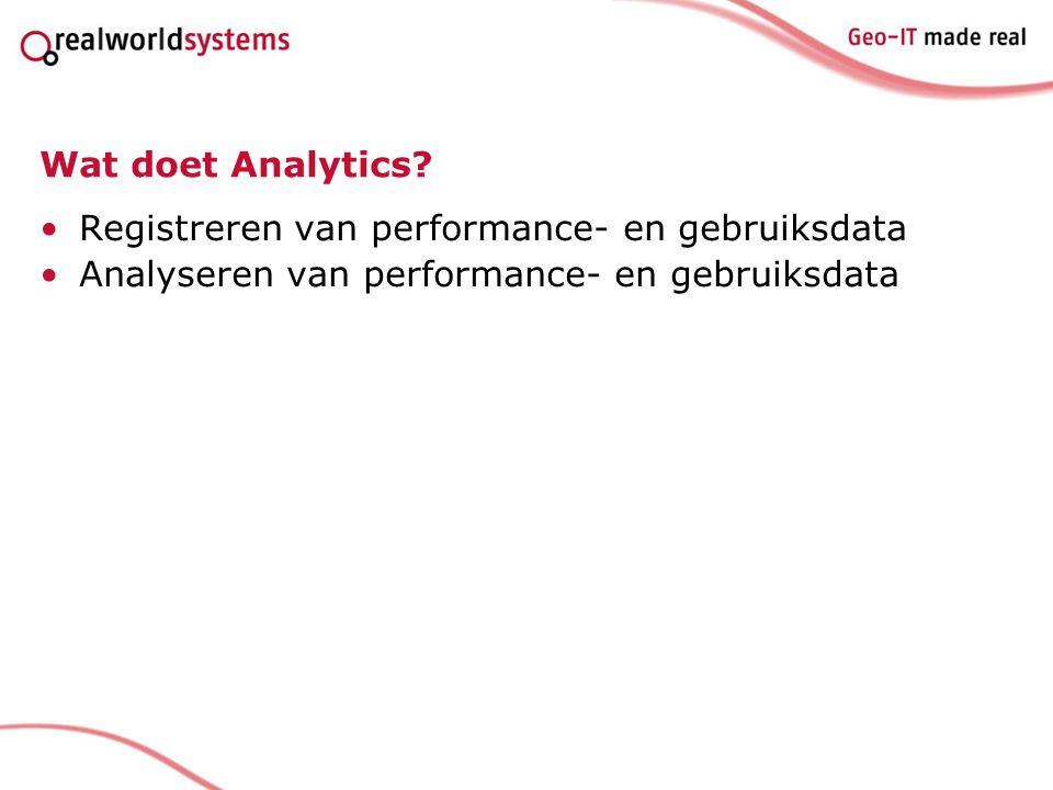 Wat doet Analytics.