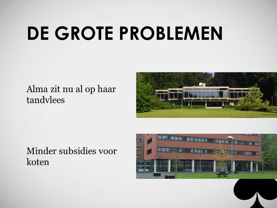 DE GROTE PROBLEMEN Investeren in infrastructuur? Les aan de KU Leuven?