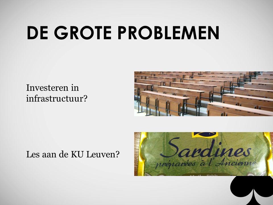 DE GROTE PROBLEMEN Investeren in infrastructuur Les aan de KU Leuven