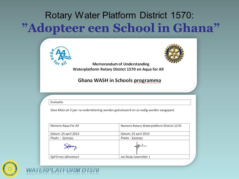 Rotary Water Platform District 1570: Adopteer een School in Ghana