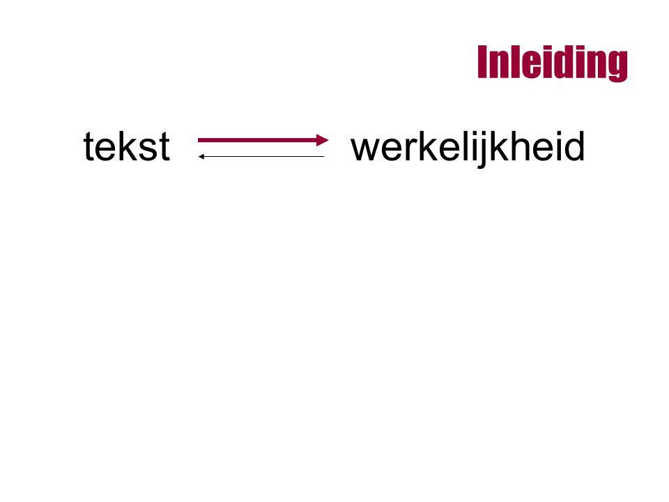 Inleiding tekstwerkelijkheid