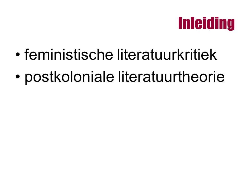 Inleiding feministische literatuurkritiek postkoloniale literatuurtheorie
