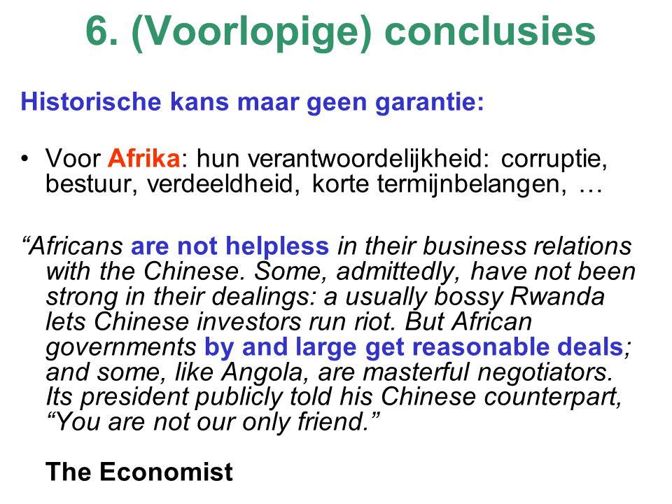 """Historische kans maar geen garantie: Voor Afrika: hun verantwoordelijkheid: corruptie, bestuur, verdeeldheid, korte termijnbelangen, … """"Africans are n"""