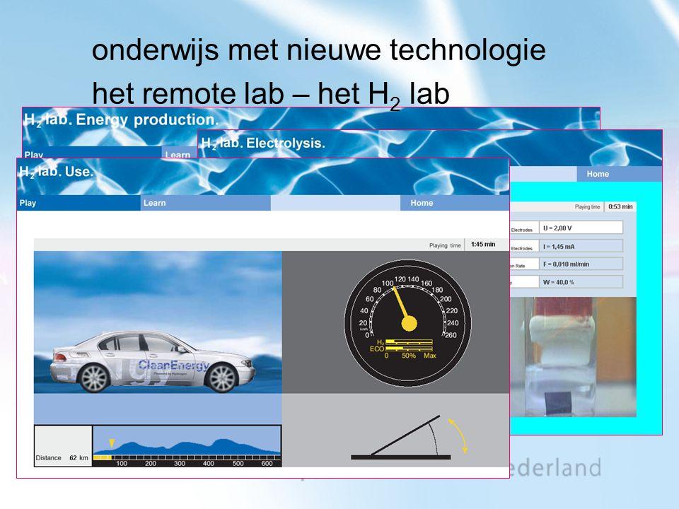 onderwijs met nieuwe technologie het remote lab – het H 2 lab