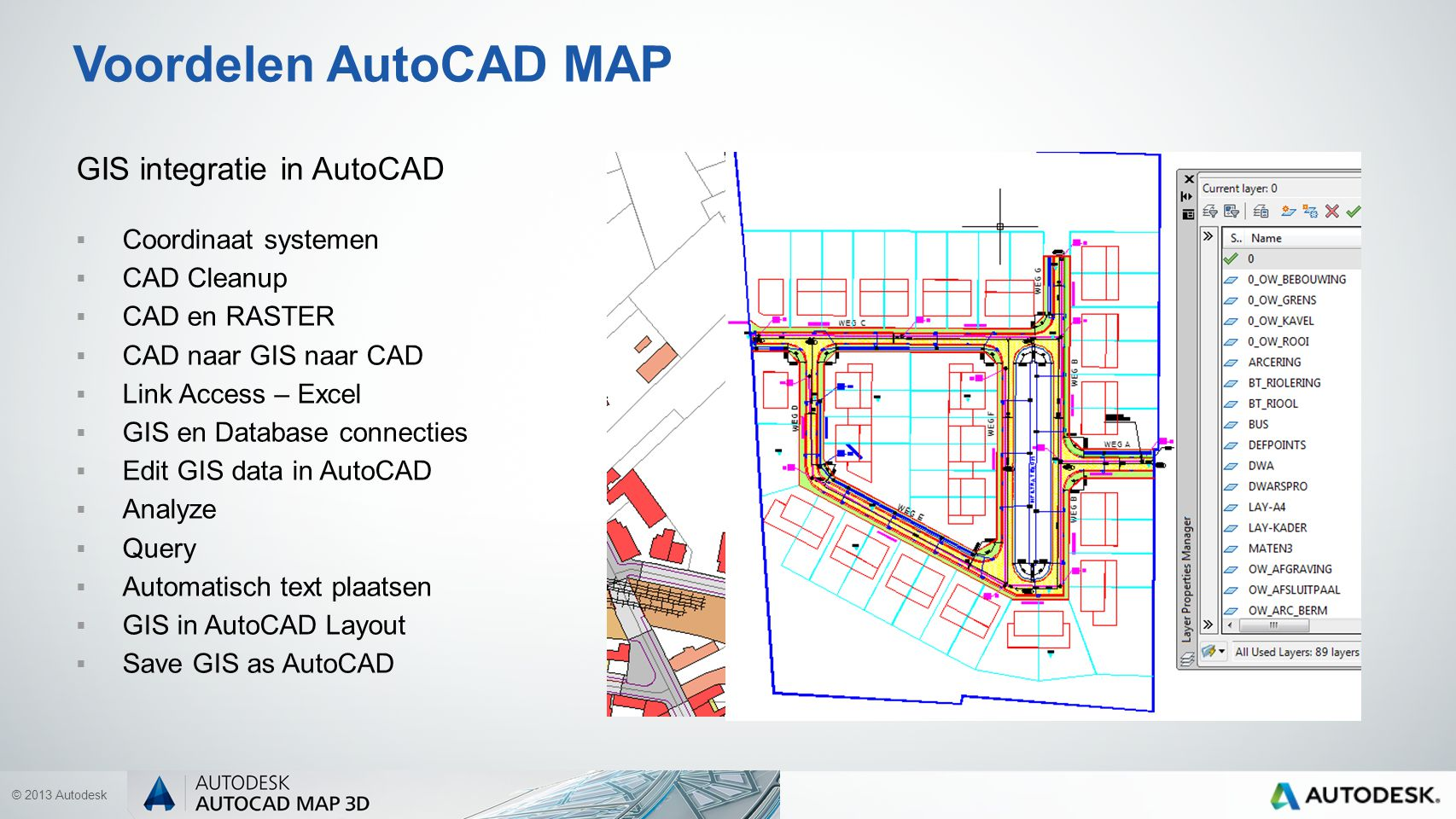 © 2013 Autodesk AutoCAD MAP WebServices: Kadaster GRB Ortho AGIV Bing Maps