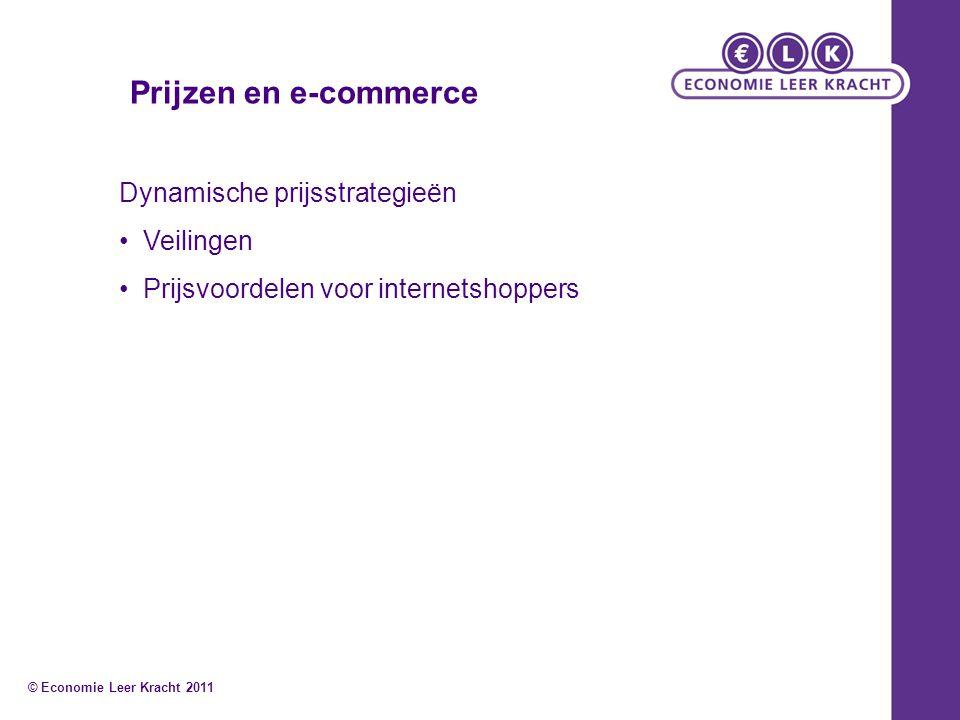 Dynamische prijsstrategieën Veilingen Prijsvoordelen voor internetshoppers Prijzen en e-commerce © Economie Leer Kracht 2011