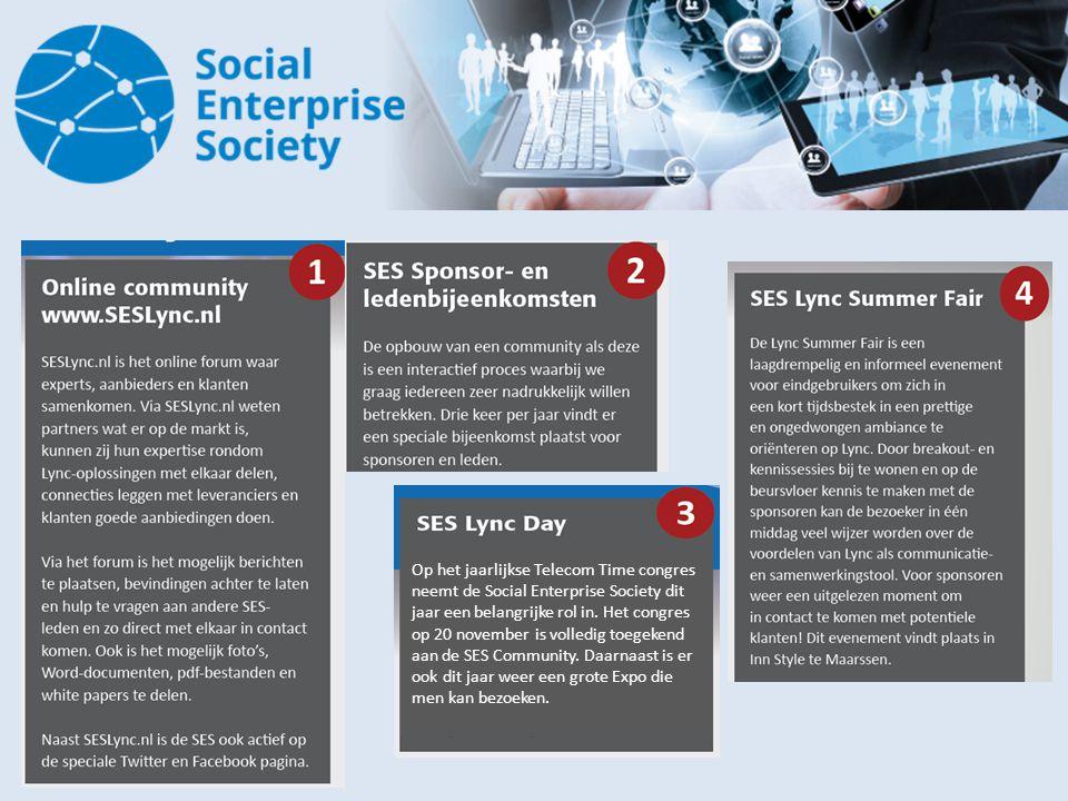 Op het jaarlijkse Telecom Time congres neemt de Social Enterprise Society dit jaar een belangrijke rol in. Het congres op 20 november is volledig toeg